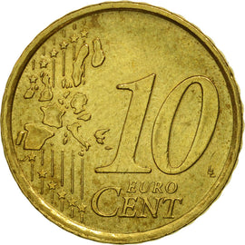 Italy, 10 Euro Cent, 2002, MS(63), Brass, KM:213