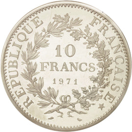 Coin, France, 10 Francs, 1971, MS(65-70), Silver, KM:P435, Gadoury:183.P1