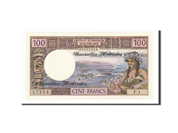 New Hebrides, 100 Francs, 1970, KM #18a, UNC(65-70), F.1 57354