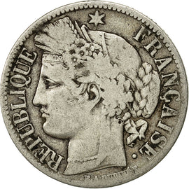 Coin, France, Cérès, Franc, 1851, Paris, VF(20-25), Silver, KM:759.1