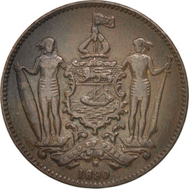 BRITISH NORTH BORNEO, Cent, 1890, Heaton, EF(40-45), Bronze, KM:2