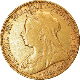 Coin, Great Britain, Victoria, Sovereign, 1898, EF(40-45), Gold, KM:785