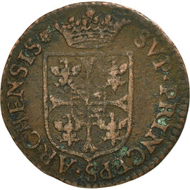 France, Ardennes, Charles I, Liard, 1608, Charleville, F(12-15), Copper, C2G:280