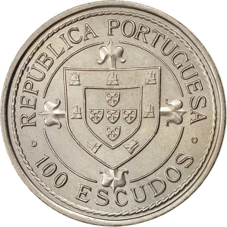 Coin, Portugal, 100 Escudos, 1987, MS(63), Copper-nickel, KM:640