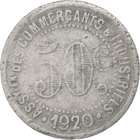 Coin, France, 50 Centimes, 1920, VF(20-25), Aluminium, Elie:10.1