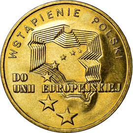 Coin, Poland, 2 Zlote, 2004, Warsaw, MS(60-62), Brass, KM:481
