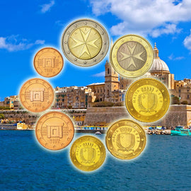 Malta, 1 Cent to 2 Euro, 2008, MS(65-70)
