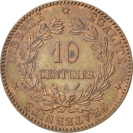 Coin, France, Cérès, 10 Centimes, 1895, Paris, AU(55-58), Bronze, KM:815.1
