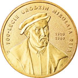 Coin, Poland, 2 Zlote, 2005, Warsaw, MS(60-62), Brass, KM:608