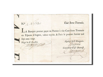 Banknote, France, 100 Livres, 1720, 1720-01-01, EF(40-45), KM:A17b, Lafaurie:90