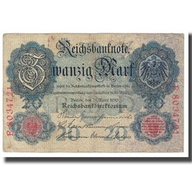 Banknote, Germany, 20 Mark, 1910, 1910-04-21, KM:31, VF(20-25)
