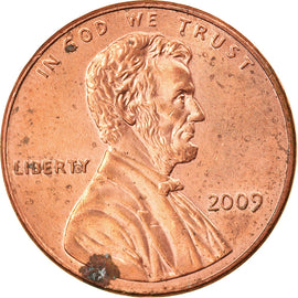 Coin, United States, Cent, 2009, U.S. Mint, Philadelphia, AU(55-58), Copper