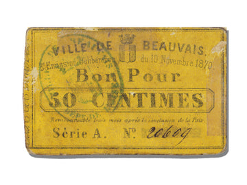 FRANCE, Beauvais, 50 Centimes, 1870, 1870-11-10, EF(40-45), Jérémie #60.01.A
