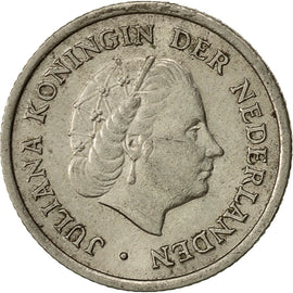 Coin, Netherlands, Juliana, 10 Cents, 1960, EF(40-45), Nickel, KM:182