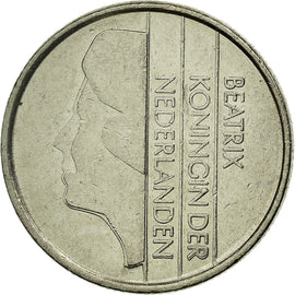 Coin, Netherlands, Beatrix, 25 Cents, 1984, EF(40-45), Nickel, KM:204