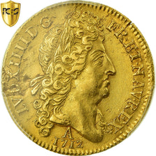 Coin, France, Louis XIV, Double louis d'or au soleil, 2 Louis D'or, 1712, Paris