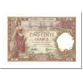 Banknote, French Somaliland, 500 Francs, 1938, 1938-03-08, KM:9b, UNC(60-62)