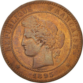 France, Cérès, 10 Centimes, 1895, Paris, VF(30-35), Bronze, KM:815.1