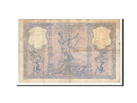 France, 100 Francs, 100 F 1888-1909 ''Bleu et Rose'', 1889, KM #65a,...