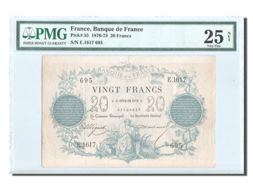 Banknote, France, 20 Francs, ...-1889 Circulated during XIXth, 1873, 1873-02-25