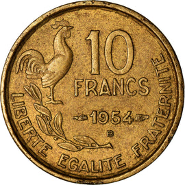 Coin, France, Guiraud, 10 Francs, 1954, Beaumont - Le Roger, VF(30-35)