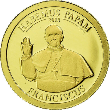 Coin, Cook Islands, Dollar, 2013, Habemus Papam Franciscus, MS(65-70), Gold
