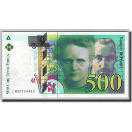 Banknote, France, 500 Francs, 1994, Undated (1994), UNC(65-70), Fayette:76.1