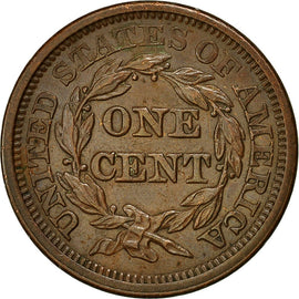 Coin, United States, Braided Hair Cent, Cent, 1845, U.S. Mint, Philadelphia