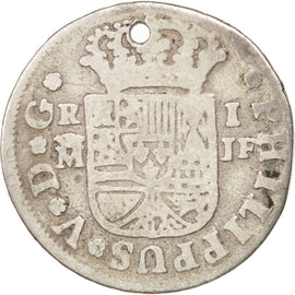 SPAIN, Real, 1732, Madrid, KM #298, VF(30-35), Silver, 2.64