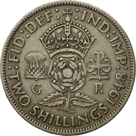 Coin, Great Britain, (no  Ruler Name), 2 Shilling, 1948, EF(40-45)