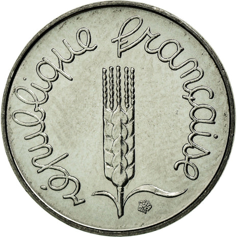 Coin, France, Épi, Centime, 1983, MS(63), Stainless Steel, KM:928, Gadoury:91