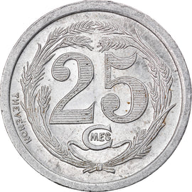 Coin, Algeria, Chambre de Commerce, Oran, 25 Centimes, 1922, MS(60-62)