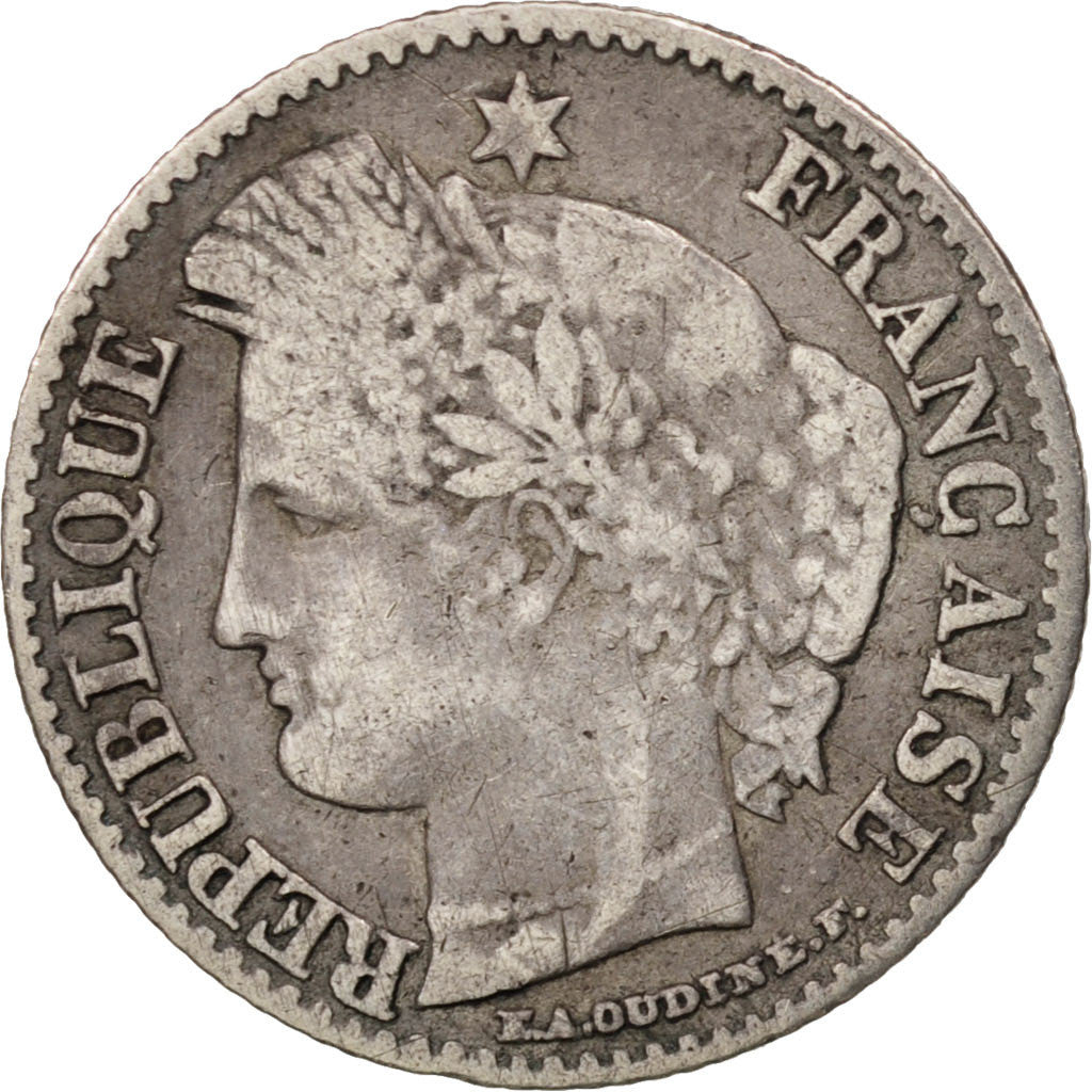 France, Cérès, 20 Centimes, 1851, Paris, VF(30-35), Silver, KM:758.1
