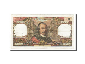 Banknote, France, 100 Francs, 100 F 1964-1979 ''Corneille'', 1966, 1966-04-07