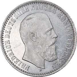 Coin, Germany, Friedrich III, 2 Mark, Uniface Obverse Die Trial, MS(60-62), Tin