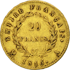 Coin, France, 20 Francs, 1815, Paris, VF(30-35), Gold, KM:705.1, Gadoury:1025a