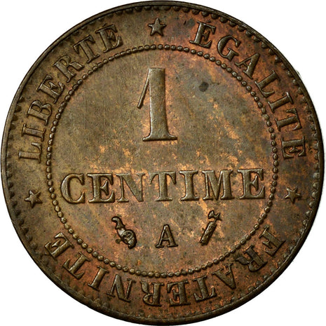 Coin, France, Cérès, Centime, 1892, Paris, MS(60-62), Bronze, Gadoury:88