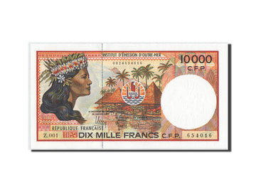 Banknote, French Pacific Territories, 10,000 Francs, 2007, KM:4b, UNC(65-70)