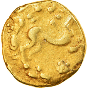 Coin, Ambiani, Stater, 1st century BC, Rare, AU(50-53), Gold, Delestrée:157