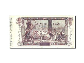 France, 5000 Francs, 5 000 F 1918 ''Flameng'', 1918, KM:76, 1918-01-03