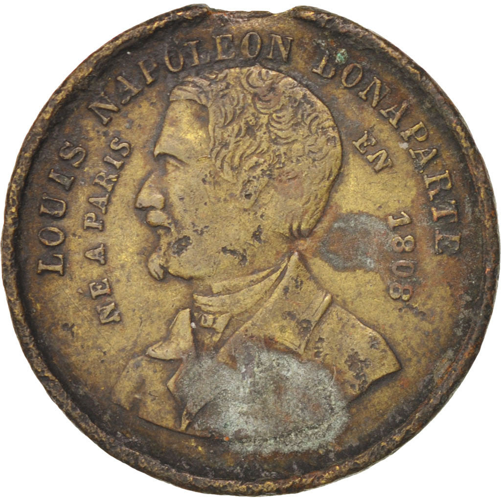 FRANCE, French Second Republic, Medal, 1848, VF(30-35), Copper, 23, 4.00