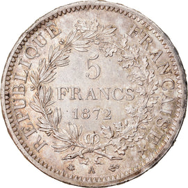 Coin, France, Hercule, 5 Francs, 1872, Paris, AU(55-58), Silver, KM:820.1