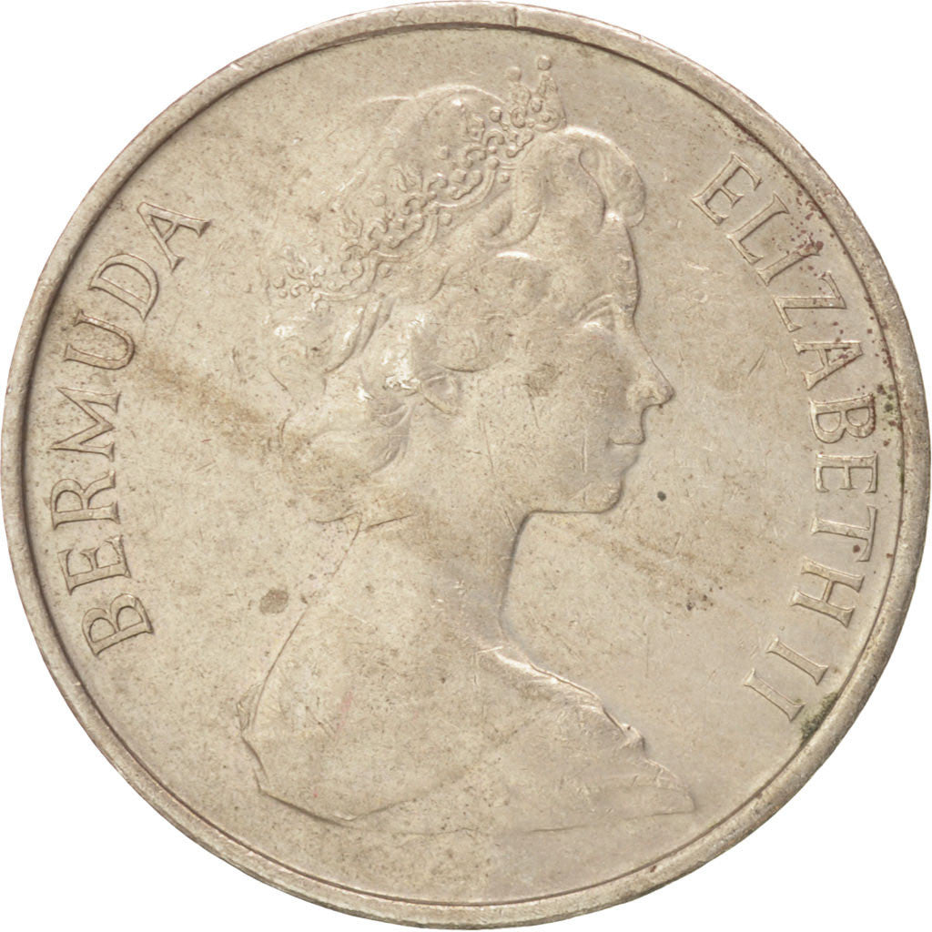 Bermuda, Elizabeth II, 5 Cents, 1977, AU(50-53), Copper-nickel, KM:16
