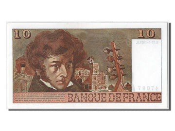 Banknote, France, 10 Francs, 10 F 1972-1978 ''Berlioz'', 1975, UNC(63)