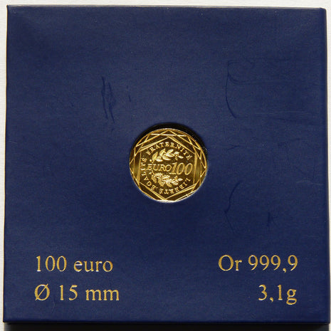 Coin, France, 100 Euro, 2010, MS(65-70), Gold