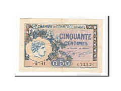 Banknote, Pirot:97-31, 50 Centimes, 1920, France, AU(50-53), Paris