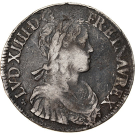Coin, France, Louis XIV, Ecu, 1653, VF(20-25), Silver, Gadoury:202