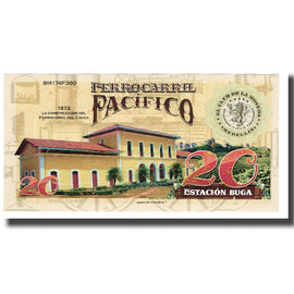 Banknote, Colombia, Tourist Banknote, 20 CAFETEROS THE COFFE RAILROAD COMPANY