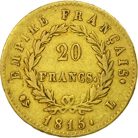 Coin, France, 20 Francs, 1815, Bayonne, EF(40-45), Gold, KM:705.2