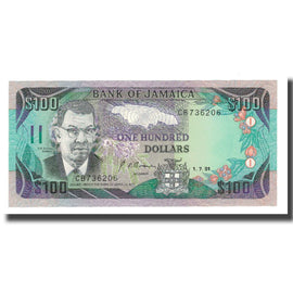 Banknote, Jamaica, 100 Dollars, 1991-1993, 1991-07-01, KM:75a, UNC(65-70)